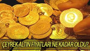 Çeyrek altın fiyatları bugün kaç liradan işlem görüyor İşte altın fiyatları