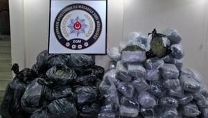 Diyarbakırda 544 kilo esrar ele geçirildi