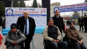 Gaziantepte 46 engelliye tekerlekli sandalye