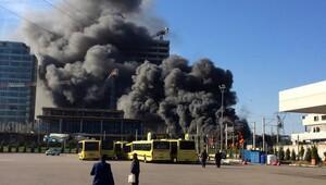 Son dakika: Bursada şantiyede yangın... Kötü haber geldi
