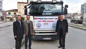 Turhal Belediyesi'nden Halep'e yardım TIR'ı