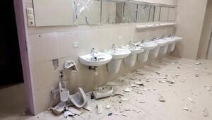 Atiker Konyaspor taraftarı koltukları kırdı, lavabolara zarar verdi