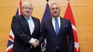 Çavuşoğlu ve Johnson Brükselde görüştü