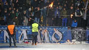 Kievde bıçaklanan Beşiktaş taraftarı yoğun bakımda