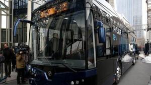 Türkiyenin ilk yerli elektrikli otobüsü yola çıktı