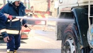 Şanlıurfa'da kamyonda yangın