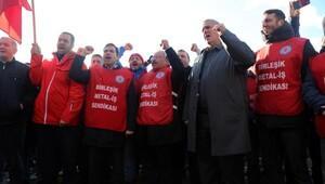 İzmitte 400 işçi greve çıktı