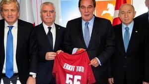 TFF Başkanı Demirören, Samsunsporu ziyaret etti