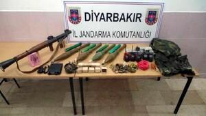 Çermikte PKKya ait silah ve mühimmat bulundu