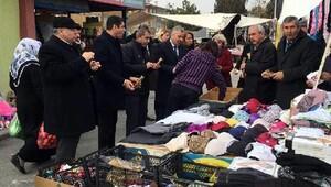 CHPli Milletvekillerinden esnaf ziyareti