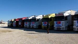 Halepe 9 TIRlık yardım konvoyu