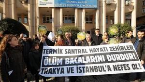 Kuzey Ormanları Savunmasından Trakyada termik santrala hayır protestosu