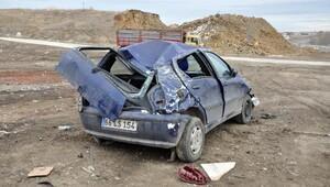 Yozgatta otomobil takla attı: 1 yaralı