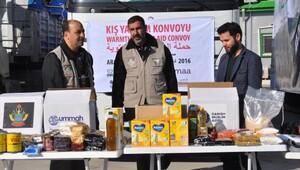 İHH'dan Suriye'ye 35 TIR kışlık yardım konvoyu