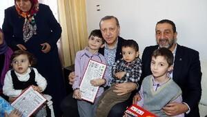 Cumhurbaşkanı Erdoğandan 15 Temmuz Şehitlerinin ailelerine ziyaret