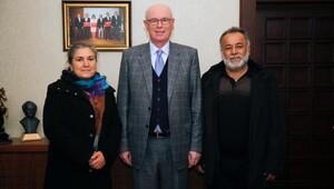Korkmaz çifti Başkan Kurtu ziyaret etti