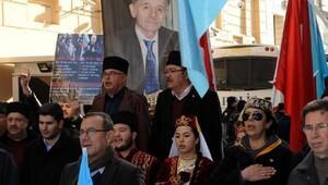 fotoğraflar//Kırım Tatar Türkleri, Rusyayı protesto etti