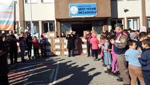 Pamukovadan Cizredeki öğrencilere yardım