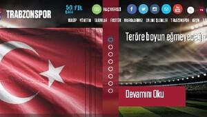 Trabzonspor: Teröre lanet olsun