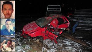 Bir gün önce aldıkları otomobille kaza yaptılar: 2si kardeş 3 ölü