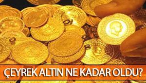 Altın gram fiyatları düşüyor.. Çeyrek altın fiyatları ne kadar oldu