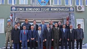 Belediye başkanlarından Komando Tugayına taziye ziyareti