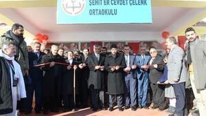 Şehit Er Cevdet Çelenk Ortaokulunun açılışı yapldıı