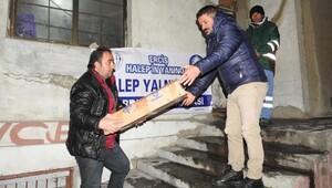Ercişten Halepe 2 TIR yardım