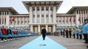 Cumhurbaşkanı Erdoğan, Arnavutluk Cumhurbaşkanı Nişaniyi resmi törenle karşıladı