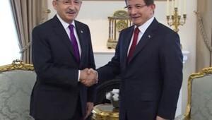 Davutoğlu ile Kılıçdaroğlu görüşmesi başladı