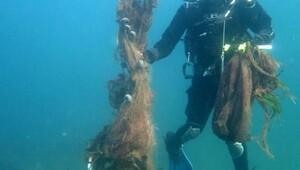 Çanakkalenin adaları terk edilmiş ağlardan temizleniyor