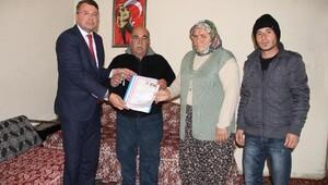 Silifke Belediyesi 2 şehidin ailesine ev verdi
