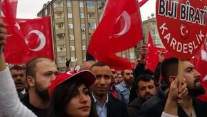 Mardinde terörü protesto mitingi