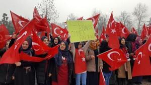 Düzcede İmam Hatip öğrencilerinden terör protestosu