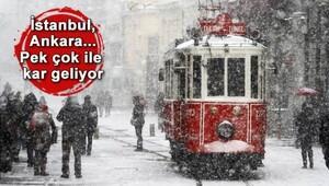 Meteorolojiden İstanbul ve Ankara için kuvvetli kar yağışı uyarısı