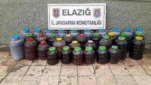 Elazığda bandrolsüz 920 litre şarap ele geçirildi