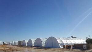Kırıkhana ulaşan Türkmenler için Azezde çadır kent kuruldu
