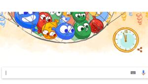 Google yılbaşı arifesini Doodle yaptı
