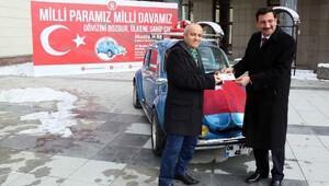 Milli Paramız Milli Davamız kampanyasından otobobil kazandı