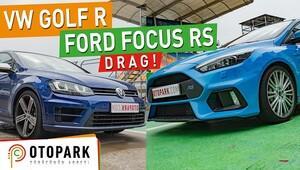 Ford Focus RS vs Volkswagen Golf R   DRAG