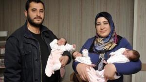 Üçüz doğum yapan böbrek nakilli anne tıp literatürüne geçti