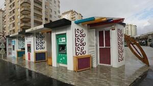 ATM kabinlerine kutnu kumaşı motifleri