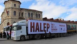 Sivastan Haleplilere 6 TIR yardım malzemesi