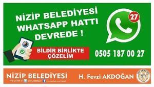 Nizip Belediyesinden, Whatsapp hpattı