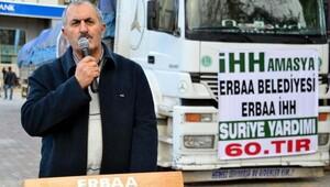 Halepliler için Erbaadan yardım TIRı