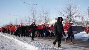 Edirnede eksi 10 derecede Sarıkamış şehitleri yürüyüşü (2)