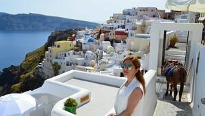 Mavi ile beyazın aşkı: Santorini