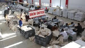 Çadır üretimine fabrika gibi tesis