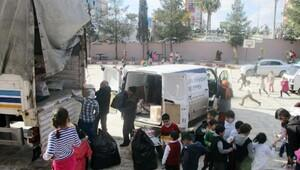 Şanlıurfalı öğrenciler, oyuncaklarını Halepe gönderdi