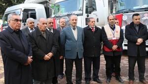 Adıyamandan Halepe 360 bin lira ve 3 TIRlık yardım